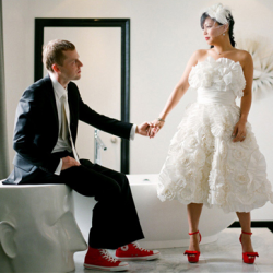 Red Shoes For The Bride And Groom