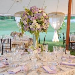 white and lavender wedding | weddinggawker