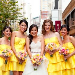 yellow, grey & pink winery wedding | weddinggawker