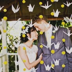 paper crane wedding decorations weddinggawker