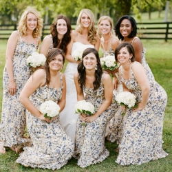 floral print bridesmaid dresses | weddinggawker