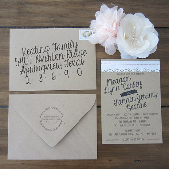 Beautiful Wedding Invitations You Can Make Yourself Bridalguide