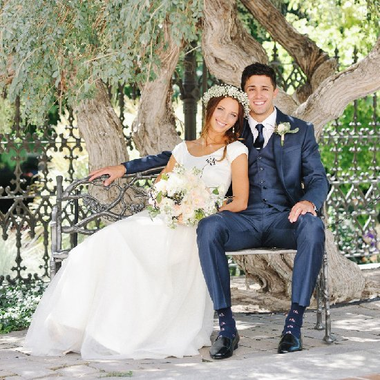ce2f4fe738f pretty peach and navy wedding