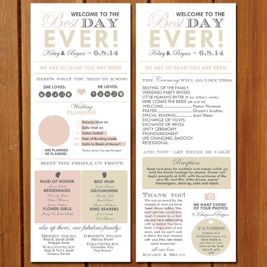 Infographic Wedding Program Weddinggawker Template