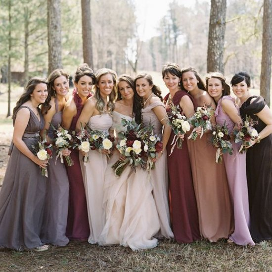 mismatched bridesmaid dresses gallery - weddinggawker
