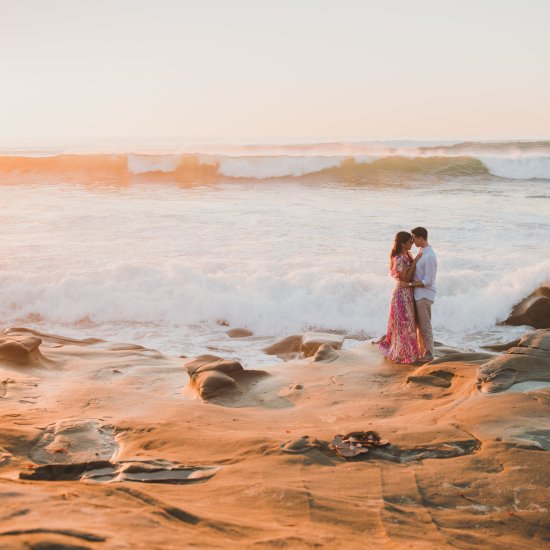 La Jolla Windansea Beach Engagement