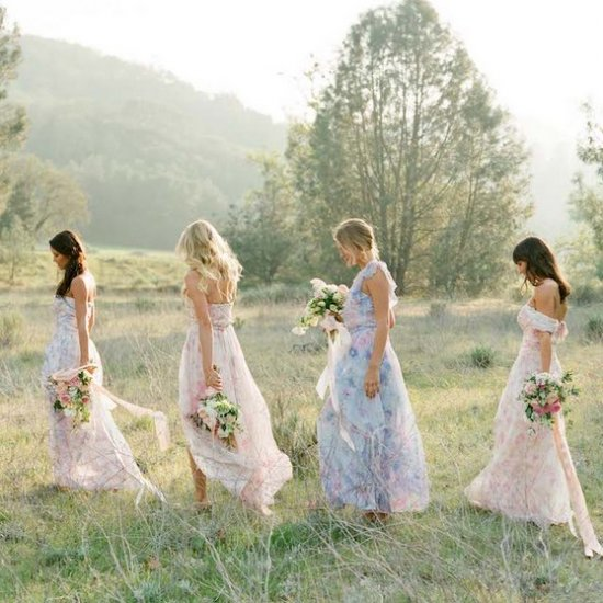 Floral Print Wedding Dresses 50 Luxury  Floral Print Bridesmaid
