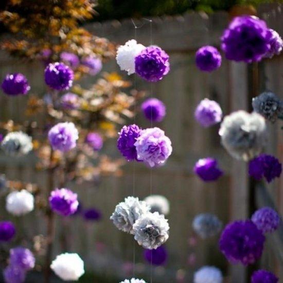 Diy hanging tissue paper flowers weddinggawker diy hanging tissue paper flowers mightylinksfo