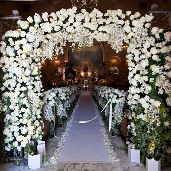 Church wedding decorations weddinggawker church wedding decorations junglespirit Choice Image