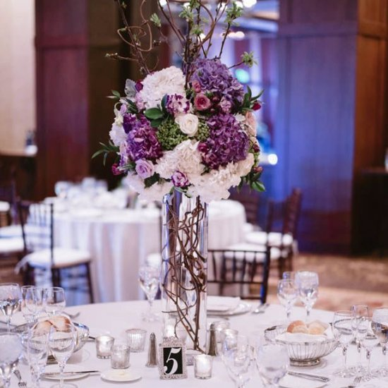 Tall purple wedding centerpieces unique ideas