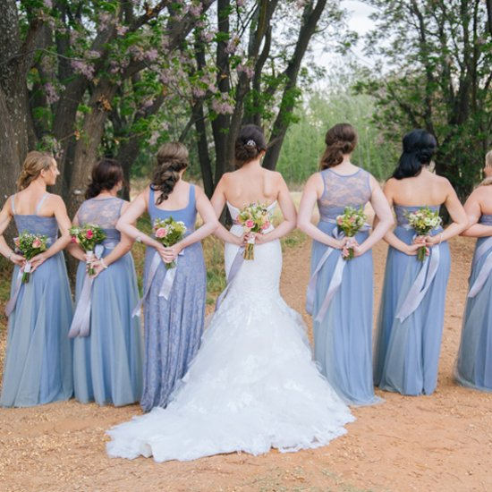 Rustic Serenity Blue Wedding