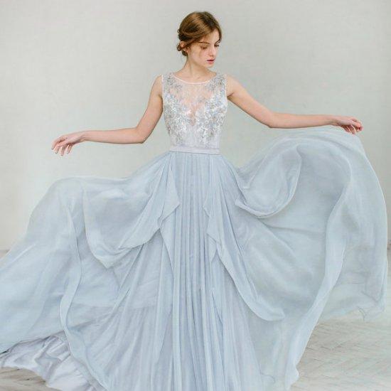 blue wedding dress gallery | weddinggawker