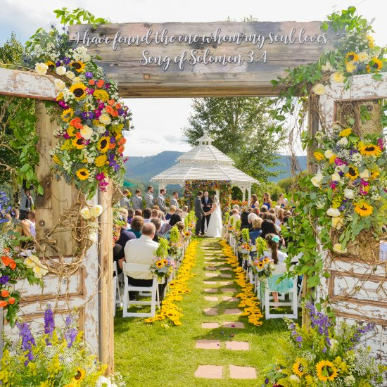 Sunflower wedding gallery weddinggawker garden wedding in colorado junglespirit Gallery