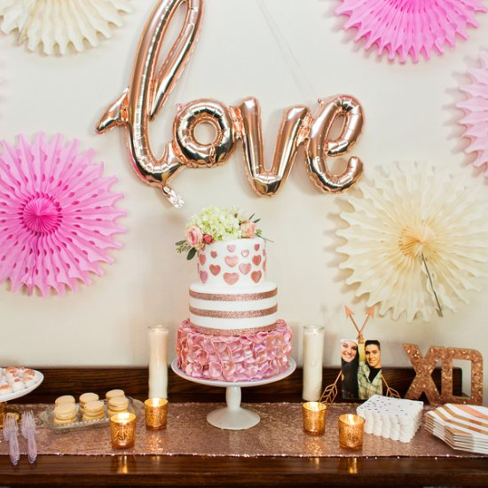 happy hearts rose gold bridal shower the perfect palette