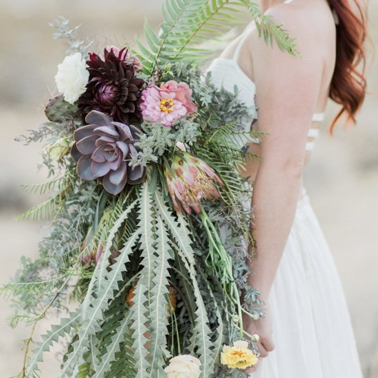 A Unique Desert Wedding Bouquet
