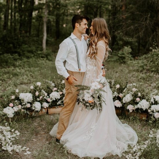 9c54f845eea early fall woodland wedding
